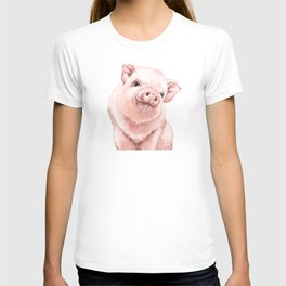 Pink Baby Pig T-shirt