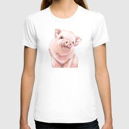 Pink Baby Pig T-shirt