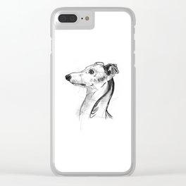 Italian Greyhound Sketch Clear iPhone Case