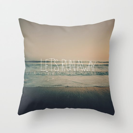 Let's Run Away by Laura Ruth and Leah Flores Throw Pillow