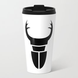 Bugs: abstract Stag Beetle Metal Travel Mug