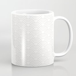 Minimalist Japanese Waves Pattern Coffee Mug