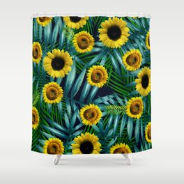 Sunflower Party #2 Shower Curtain
