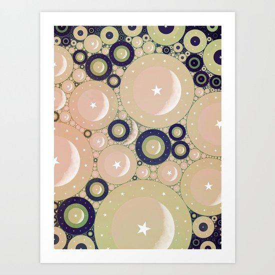 Many Moons Art Print