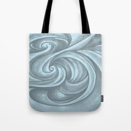 Swirl (Gray Blue) Tote Bag