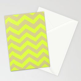 CHARTRUESE CHEVRON PRINT Stationery Cards