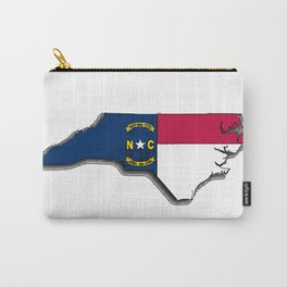 North Carolina Map with North Carolinian Flag Carry-All Pouch