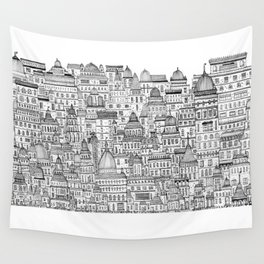 The Long Town  Wall Tapestry