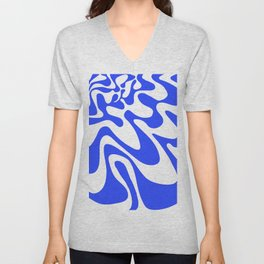 Swirly Whirly: Abstract Pop Art Painting by Bruce Gray Unisex V-Neck