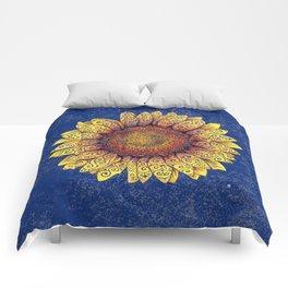 Swirly Sunflower Comforters