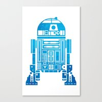 r2d2 Canvas Prints featuring R2D2 by Henrik Lund Mikkelsen