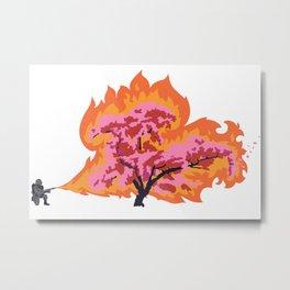 Allergy Season: Flamethrower Metal Print