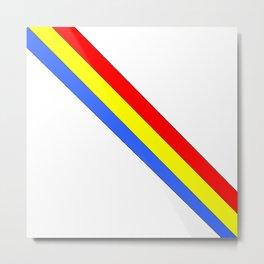 Flag of romania 4 -romania,romanian,balkan,bucharest,danube,romani,romana,bucuresti Metal Print