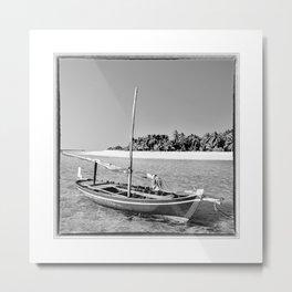 Maldives, dhoni in the southern atolls Metal Print