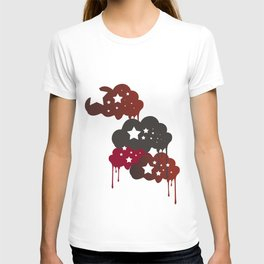 clouds and stars T-shirt