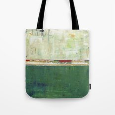 Limerick Irish Ireland Abstract Green Modern Art Landscape Tote Bag