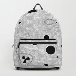 Black and Grey Multi Pattern with Heart design Backpack