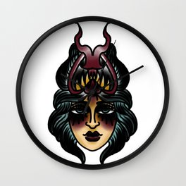 Iron Quill Lady Demon Wall Clock