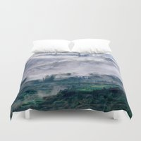 vietnam Duvet Covers featuring Foggy Mountain of Sa Pa in VIETNAM by CAPTAINSILVA
