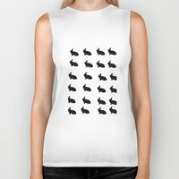 rabbits Biker Tanks featuring Rabbits by thewinterisnotover