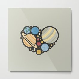Heart of an Astronaut Metal Print