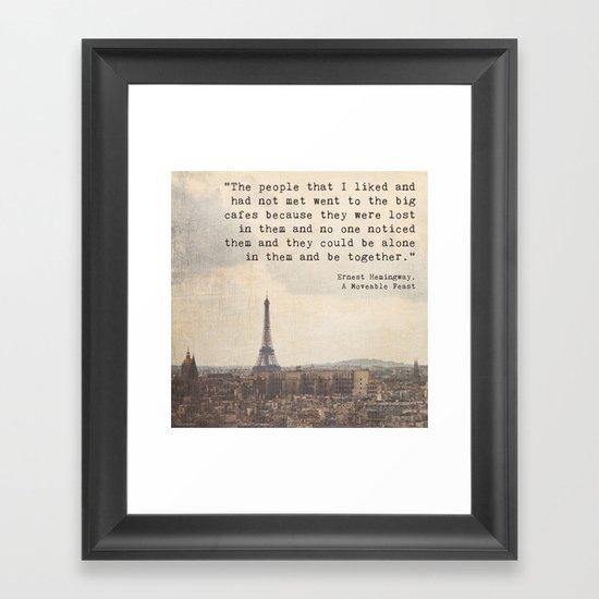 Hemingway in Paris by thetinowl