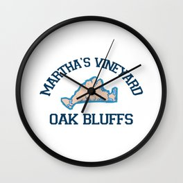 Oak Bluffs - Marthat's Vineyard. Wall Clock