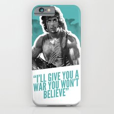 Badass 80's Action Movie Quotes - Rambo: First Blood iPhone 6 Slim Case