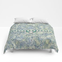 Smokey Pattern with Pearls Comforters