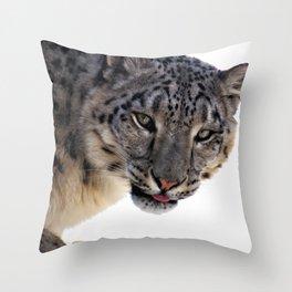 Léopard des neiges Throw Pillow