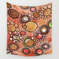 brown Wall Tapestries featuring brown by Kras Arts - Fly Me To The Moon
