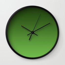 Green Ombré Gradient Wall Clock