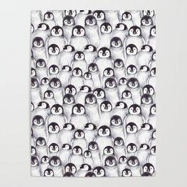 Penguin pattern Poster