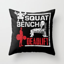 Bodybuilding Muscle building Throw Pillow