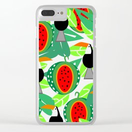 Toucans and watermelons Clear iPhone Case