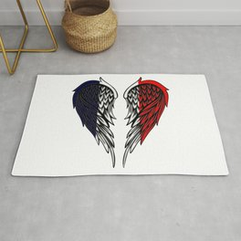 French wings art Rug