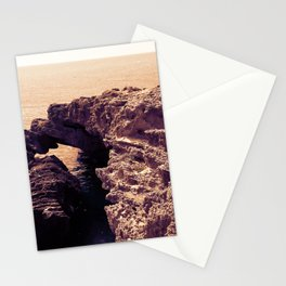 Cave on Mediterranean sea in monochrome Stationery Cards