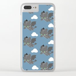 toothless pattern Clear iPhone Case