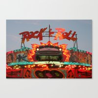 rock and roll Canvas Prints featuring Rock & Roll by Paul Hopkins