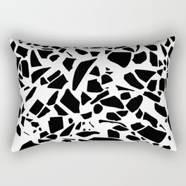 Terrazzo Black on White Rectangular Pillow