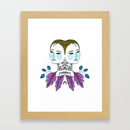 Gemini Girl Framed Art Print