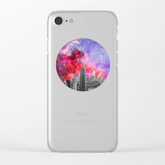 NEBULA NEW YORK Clear iPhone Case