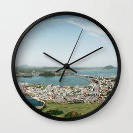 Seongsan Ilchulbong Overlook: Jeju Island, Korea Wall Clock