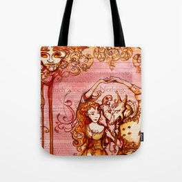 Much Ado About Nothing - Masquerade - Shakespeare Folio Illustration Tote Bag