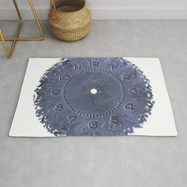 Breaking apart of the old clock face Rug