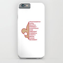 Scout Law iPhone Case