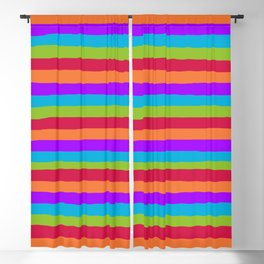 lumpy or bumpy lines abstract and summer colorful - QAB273 Blackout Curtain