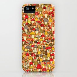 Mouse among mushrooms iPhone Case