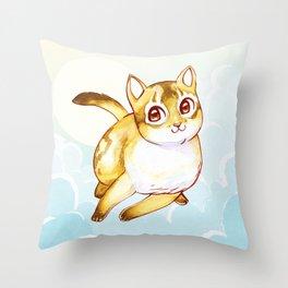 Floating Kitty Throw Pillow
