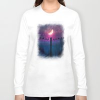 agnes Long Sleeve T-shirts featuring Symphony (colour option) by Viviana Gonzalez